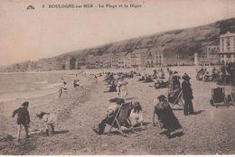 BOULOGNE SUR MER - La Plage Et La Digue - Boulogne Sur Mer