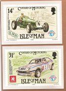 Isle Of Man. Century Of Motoring - Postzegels (afbeeldingen)
