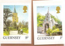 Guernsey. Chapel-Church-Cycle - Postzegels (afbeeldingen)