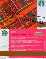 China Starbucks 2016 Christmas Coming Gift Card RMB100 - Gift Cards