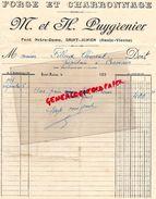 87 -SAINT JUNIEN-FACTURE  M. & H. PUYGRENIER- FORGE ET CHARRONNAGE-PONT NOTRE DAME - 1936 - Ambachten