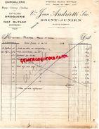 87 -SAINT JUNIEN -FACTURE VVE JEAN ANDREOTTI- RIFFAUD- QUINCAILLERIE CHAUFFAGE DROGUERIE GAZ BUTANE- 1936 - Ambachten