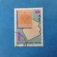 2001 ITALIA FRANCOBOLLO USATO STAMP USED - REGNO LOMBARDO VENETO - - 6. 1946-.. Repubblica