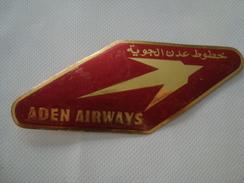 ADEN AIRWAYS LOGO STICKER - 40s. 14,5X6 CM. YEMEN. - Stickers