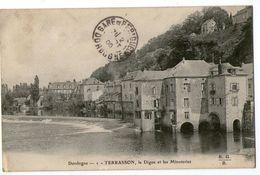CPA  24    TERRASSON  1905     LA DIGUE ET LES MINOTERIES - France