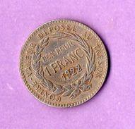 Colonie De La Martinique Bon Pour 1 Franc 1922 Contre Valeur Depose Au Tresor Republique Francaise - Other Coins