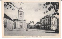 Cpa Villersexel - L'Hôtel De Ville Et L'Eglise . - Unclassified