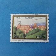 2003 ITALIA FRANCOBOLLO USATO STAMP USED - TURISTICA LANCIANO - - 6. 1946-.. Repubblica