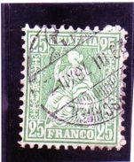 B- 1867 Svizzera - Elvezia Seduta - 1862-1881 Sitted Helvetia (perforates)
