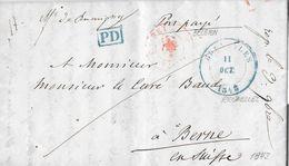 1843 BRUXELLES → PD-Lettre De Bruxelles à Berne ►RRR◄ - 1830-1849 (Belgique Indépendante)