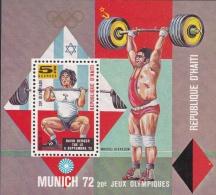 Haiti 1972 München Olympic Summer Games Souvenir Sheet Unused Glued In Parts To Paper  (H25) - Summer 1972: Munich