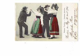 Cpa - Costumes Alsaciens - 1904 - Danse Femme Homme - - Danses