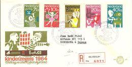 FDC 1964 REGISTERED HILVERSUM - FDC