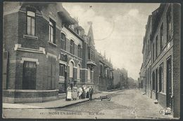 CPA  MONS EN BAROEUL    - Rue Rollin   (punaisée) - Lille