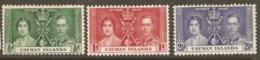 Cayman Islands 1937 SG 112-4 Coronation Mounted Mint - Iles Caïmans