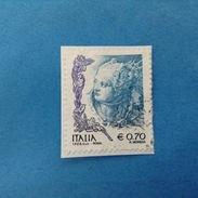 2004 ITALIA FRANCOBOLLO USATO STAMP USED DONNE NELL'ARTE DONNA 0,70 - 6. 1946-.. Repubblica