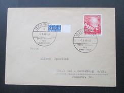 BRD 1949 Nr. 112 Eröffnung Des 1. Deutschen Bundestages. Sonderstempel / FDC. Notopfer Mit Bogenrand! Erste Sitzung - [7] República Federal