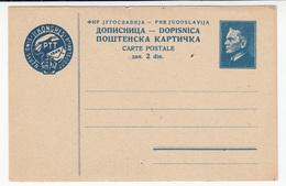 Yugoslavia FNRJ Postal Congress Preprinted Postal Stationery Postcard Dopisnica Unused B170720 - Ganzsachen