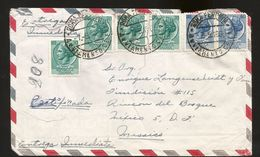 A) 1965 ITALY, TURRITA, ART, WOMEN, INMEDIATE DELIVERY, MULTIPLE STAMPS, AIRMAIL, CIRCULATED COVER FROM ROME TO MEXICO. - Italy