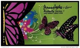 (031) Brunei  Butterflies Booklet 1 / Carnet / Heftchen / Boekje / Rare / Scarce  ** / Mnh  Michel 775-77 - Brunei (1984-...)