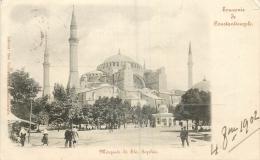 CP TURQUIE SOUVENIR DE CONSTANTINOPLE MOSQUEE DE STE-SOPHIE - Turchia