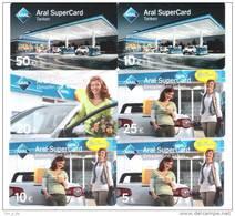 Germany - Allemagne - 6x  ARAL Petrol Station - Carte Cadeau - Carta Regalo - Gift Card - Geschenkkarte - Gift Cards