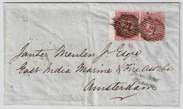 GB, 1858, Paar Nach  NL  ,Mi. Ca. € 200,-  # 8401 - Briefe U. Dokumente