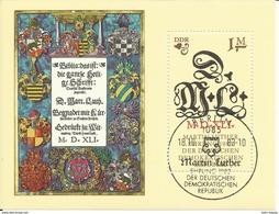 """DDR Bl.73 """"500. Geburtstag Von Martin Luther"""" Sonderstempel Mi.-Preis 3,00 - Blocs"""