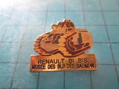 Pin311c Pin´s Pins / Beau Et Rare : MILITARIA / CHAR RENAULT B1 BIS DU MUSEE DES BLINDES DE SAUMUR - Militair & Leger