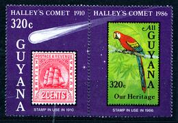 GUYANA  1986 COMET HALLEY PAIR    MNH - Guyana (1966-...)