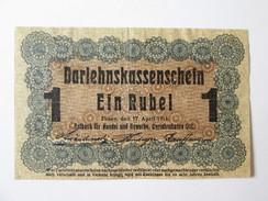 1 Rubel 1916 Banknote Region Posen/Poznan-Germany Occupation Of Poland WWI - Polen