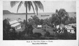 ¤¤ -    NOUVELLES-HEBRIDES   -  Rade De Port-Vila , L'Eglise Et L'Ecole      -  ¤¤ - Vanuatu