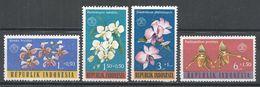 Indonesia 1962. Scott #B146-149 (MNH) Orchids, Flowers, Orchidées, Fleurs - Indonésie