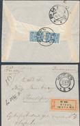 Russia Ukraine 1910 Registered Cover KIEV City Post Office No. 5 To Riga Latvia (45_2301) - Storia Postale