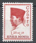 Indonesia 1965. Scott #B166 (MH) President Sukarno, Président - Indonésie