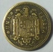 MONEDA DE 1 PTA. DE 1947. ESTRELLA CON 50 - [ 4] 1939-1947 : Gobierno Nacionalista