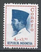 Indonesia 1965. Scott #B170 (MH) President Sukarno, Président - Indonésie