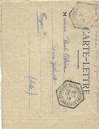 1916-  Carte-Lettre  En F M  Oblit. Cad D ( R A U ) Poudrerie Nle D'Angoulême / Charente - Marcophilie (Lettres)