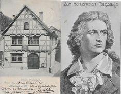 MARBACH AM NECKAR → Schiller's Geburtshaus Anno 1900 & Porttrait Zum 100. Todestage - Marbach