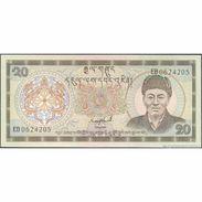 TWN - BHUTAN 16b - 20 Ngultrum 1986 Prefix EB UNC - Bhutan