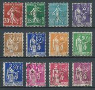FRANCE 1937 . Série N°s 360 à 371  Oblitérés. - France
