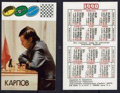 Schaken Schach Chess Ajedrez - Kalender - A. Karpov - 1990 - Petit Format : 1981-90