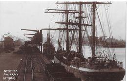 STETTIN → Freihafen Ost-Quai Mit Segelschiffe & Dampfschiffe, Fotokarte Ca.1930 - Polen
