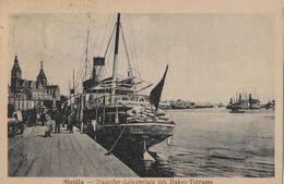 STETTIN → Dampfer-Anlegeplatz Mit Haken-Terrasse Anno 1922  ►►Frankatur Beachten◄◄ - Pologne