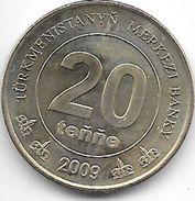 *turkmenistan 20 Tenge 2009 Km 99 Unc !!!! - Turkmenistan