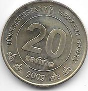 *turkmenistan 20 Tenge 2009 Km 99 Unc !!!! - Turkménistan