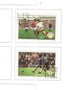 Belize 1982 Mondiali Calcio Valori 2 Usati Scott.B3+B5+ See Scans - Belize (1973-...)