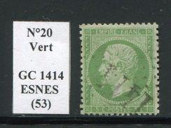 FRANCE- Y&T N°20- GC 1414 (ESNES 53) - Marcophilie (Timbres Détachés)