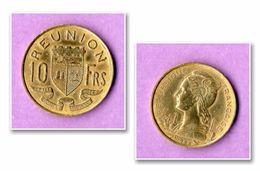 Piece De Monnaie Reunion 1962 10 Francs - Réunion