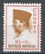 Indonesia 1965. Scott #B172 (MH) President Sukarno, Président - Indonésie